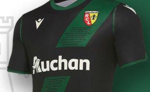 Le nouveau maillot extérieur du RC Lens