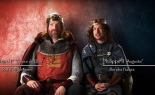 Richard Coeur de Lion et Philippe II Auguste dans la vidéo