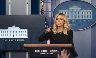 Kayleigh McEnany lors de sa première conférence de presse comme porte parole de la Maison-Blanche, le 1er mai 2020.