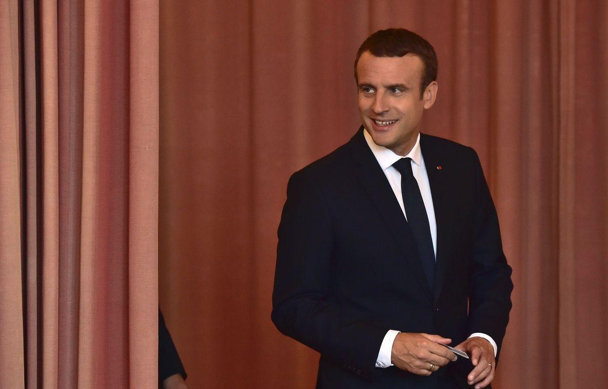 Le président Emmanuel Macron a voté au Touquet dimanche 18 juin tôt. – AFP