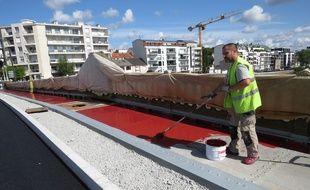 A Nantes, le 20 aout 2014 - Le Pont de la Motte-Rouge est bientot pret