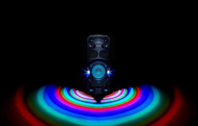 Avec l'ensemble MHC-V42D, les jeux de lumières sont compris.