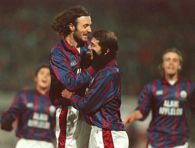 Zidane avec son grand copain de l'époque Dugarry.