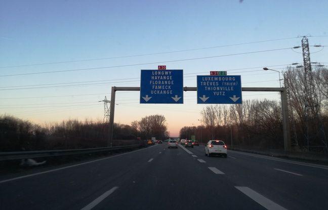 Sur la route en arrivant dans la vallée de la Fensch.