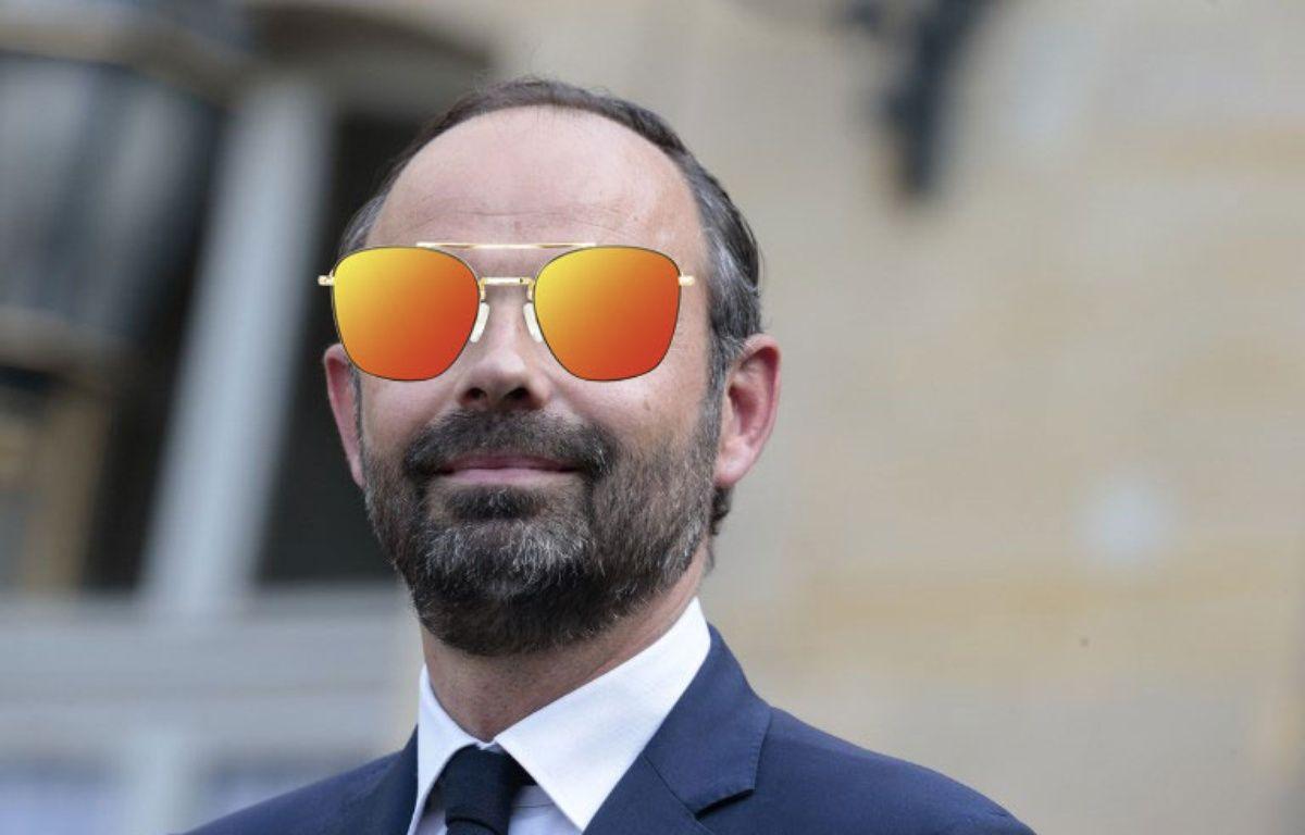 Edouard Philippe va troquer ses lunettes de vue pour celles de soleil. – Montage 20 Minutes : joel SAGET / AFP