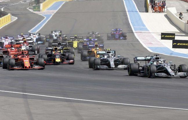 Lewis Hamilton (à droite) a fait la course en tête, ce dimanche, au Castellet.