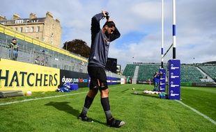 Le deuxième ligne néo-zélandais Michael Fatialofa, ici en septembre 2019, marche à nouveau après avoir subi une grave lésion au niveau de la moelle épinière lors d'un match.