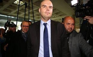 Emmanuel Ravanas, l'avocat de Laura Smet, au palais de justice de Nanterre le 30 mars 2018.