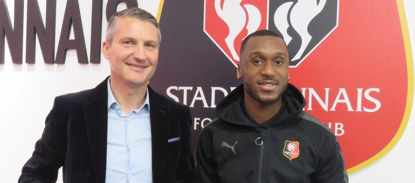 Souleyman Doumbia s'est engagé jusqu'en 2022 avec le Stade Rennais.