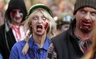 Des participants d'une Zombie Walk. (Archives)