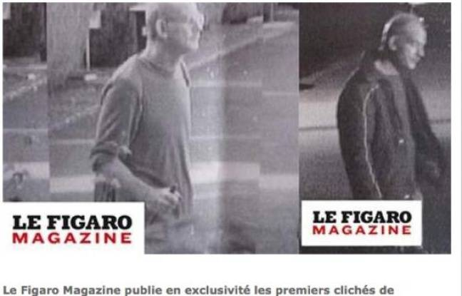 Capture d'écran du site Internet du «Figaro», qui montre les deux clichés de Jean-Pierre Treiber en cavale.