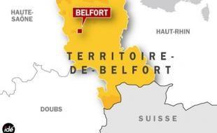 Belfort, carte de situation.