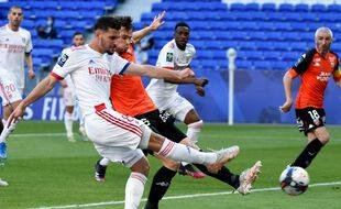 Houssem Aouar a été déterminant ce samedi, en ouvrant le score contre Lorient.