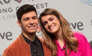 Alfred et Amaia, candidats de l'Espagne à l'Eurovision 2018.