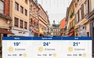 Météo Mulhouse: Prévisions du mercredi 5 août 2020