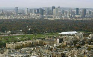 Le bois de Boulogne, situé dans l'ouest parisien
