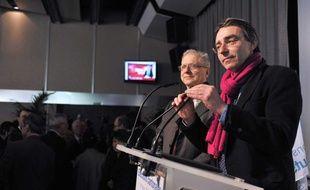 Pascal Buchet, secretaire de la fédération PS  des Hauts-de-Seine lors des  résultats du premier tour des élections cantonales, à l'hôtel du departement de Nanterre, le 20 mars 2011.