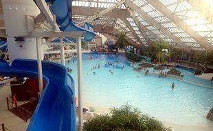 Le parc aquatique L'Aquaboulevard, à Paris, dans le 15e arrondissement.