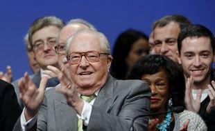 Jean-Marie Le Pen, président d'honneur du Front national, le 23 novembre 2014 à Lyon.