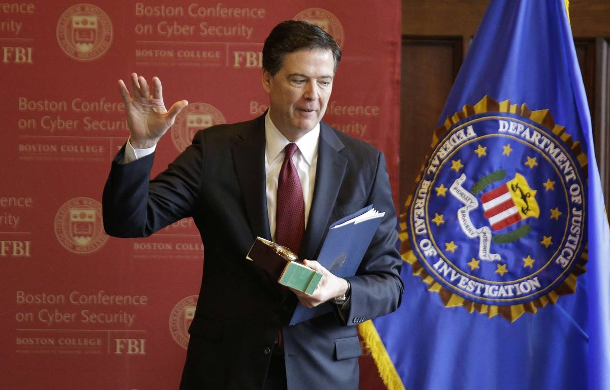 Le directeur du FBI James Comey le 8 mars 2017 à l'université de Boston. – Stephan Savoia/AP/SIPA