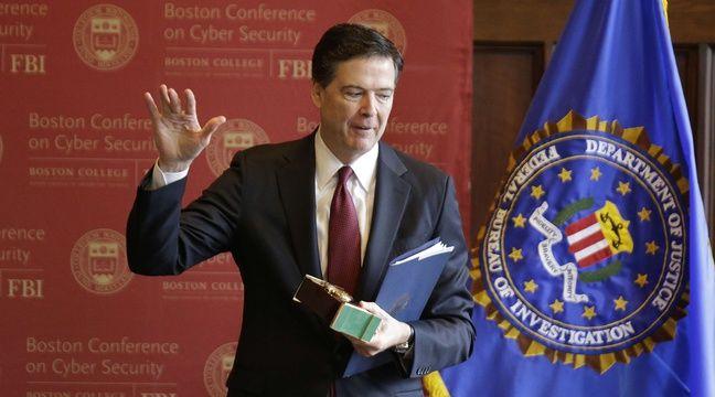 Le directeur du FBI James Comey le 8 mars 2017 à l'université de Boston. – Stephan Savoia/AP/SIPA