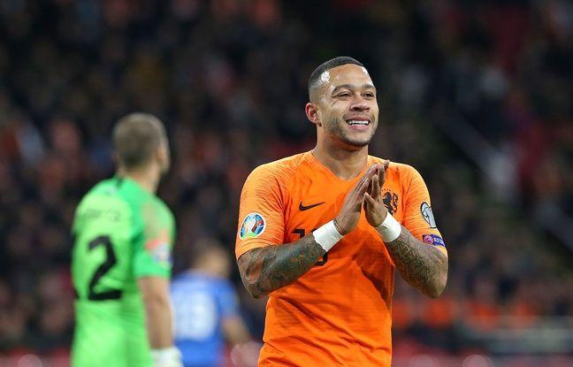 Memphis Depay, ici lors d'un match avec la sélection néerlandaise en novembre face à l'Estonie.