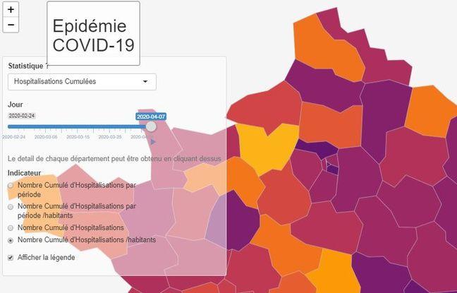 Coronavirus: La carte interactive des chercheurs et médecins de Strasbourg contre l'épidémie