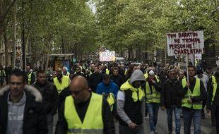 La manifestation du 1er Mai 2019 à Paris a attiré de nombreux gilets jaunes.