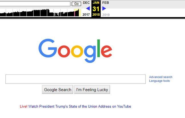 L'archive de la page d'accueil de Google réfutant les accusations de «parti pris » lancées par Trump.