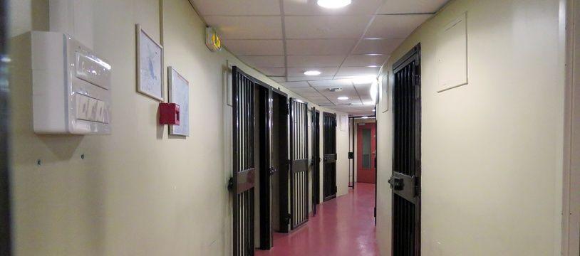 Illustration des cellules du tribunal de grande instance de Rennes, au sein de la Cité judiciaire.