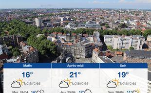 Météo Lille: Prévisions du mardi 23 avril 2019