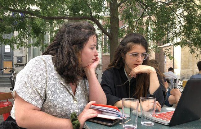 Alice Godart et Clara Lévy à Bruxelles, le 20 juillet 2020.