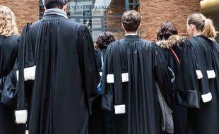 Des avocats et des magistrats à Dijon lors d'une journée de mobilisation le 15 février 2018.