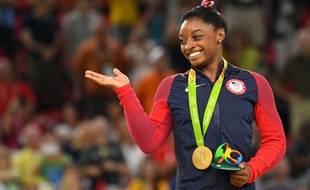 Simone Biles aux Jeux de Rio en 2016.