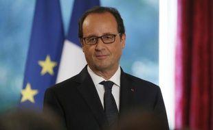 Le président de la République François Hollande au palais de l'Elysée le 30 septembre 2014