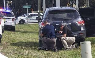 Une fusillade dans une banque de Floride a fait au moins cinq morts, le 23 janvier 2019.