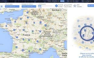 La carte immobilière a été développée par de jeunes entrepreneurs strasbourgeois.