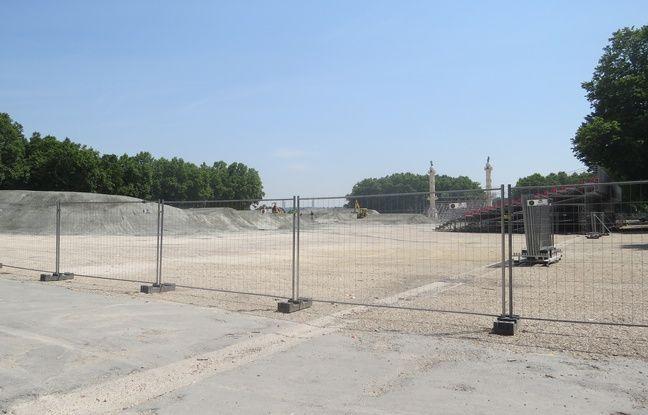 6000 tonnes de sables servent à construire la piste.