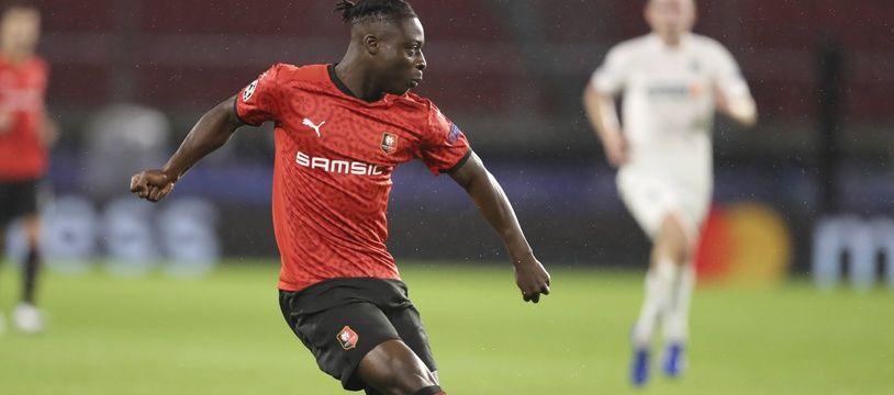 L'ailier belge du Stade Rennais Jérémy Doku est entré en jeu face à Krasnodar mardi soir en Ligue des champions.