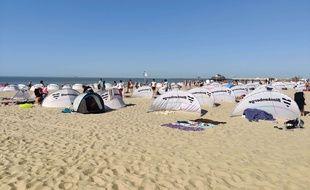 La plage de Blankenberge en Belgique, le 31 juillet 2020.