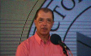 James Michel le 18 décembre 2015 à Victoria aux Seychelles