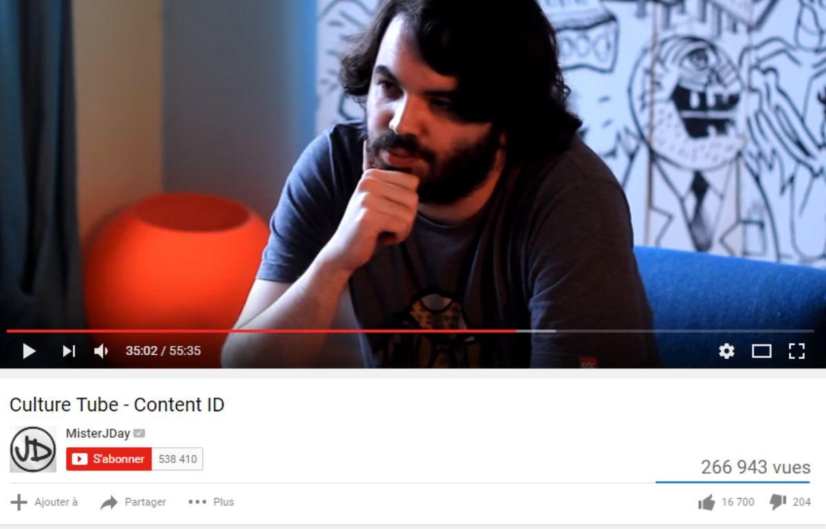 Le youtubeur MisterJDay a soulevé la question de Youtube et du copyright dans une vidéo en juillet 2016 – MisterJDay/Youtube