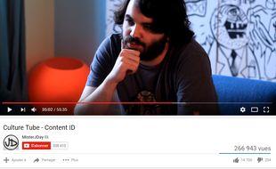 Le youtubeur MisterJDay a soulevé la question de Youtube et du copyright dans une vidéo en juillet 2016
