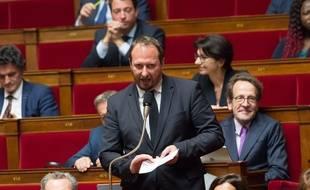 Le député Christophe Arend à l'Assemblée nationale en 2018