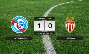 RC Strasbourg - Monaco: 1-0 pour le RC Strasbourg contre Monaco au stade de la Meinau