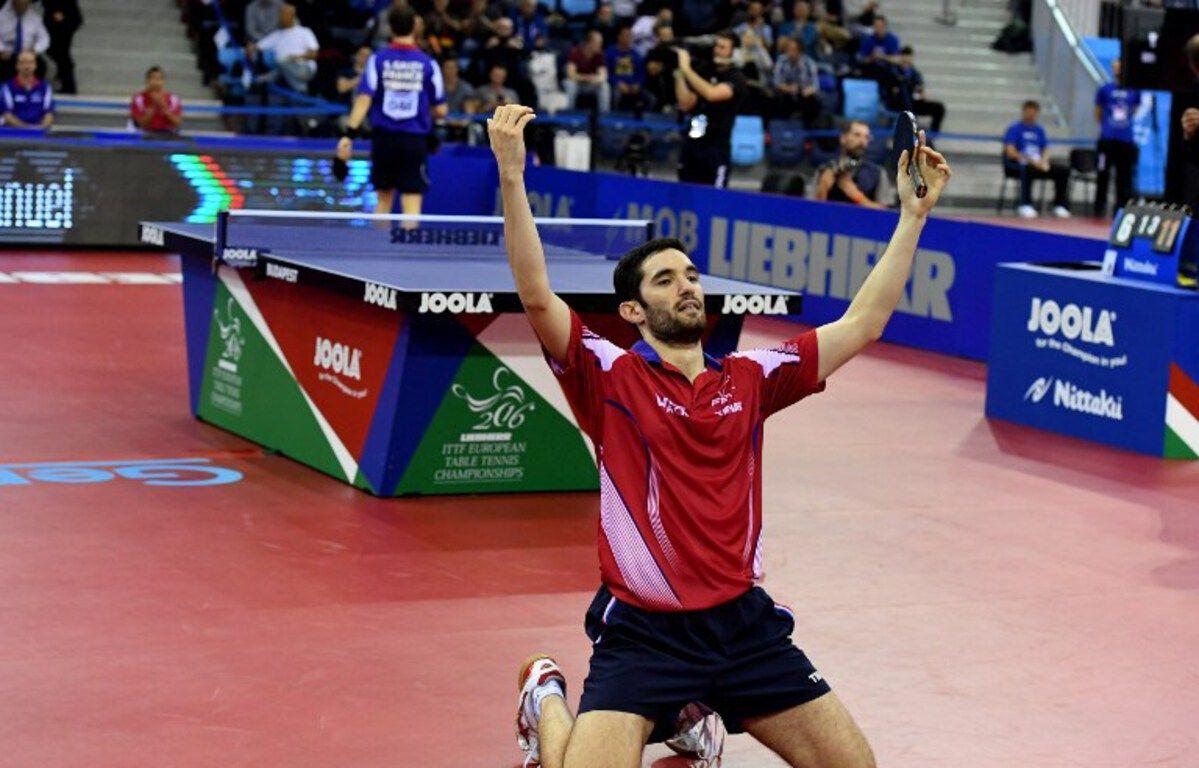 25 heures de tennis de table - Emmanuel Lebesson Genoux Juste Apr S Avoir D Croch Le Titre De Champion D Europe De