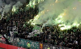 Les supporters de Saint-Etienne le 15 décembre 2019 au stade Geoffroy Guichard.