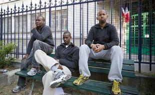 De gauche à droite: Abdulqader, Abdurahman et Abdullahi, trois somaliens arrêtés il y a quatre ans après l'attaque du Ponant par des pirates somaliens. Ils ont passé quatre ans en prison.