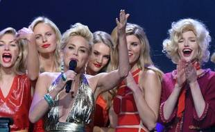 Sharon Stone a animé la soirée de l'amfAR