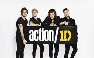Les One Direction lancent la campagne Action/1D, le 8 juillet 2015.